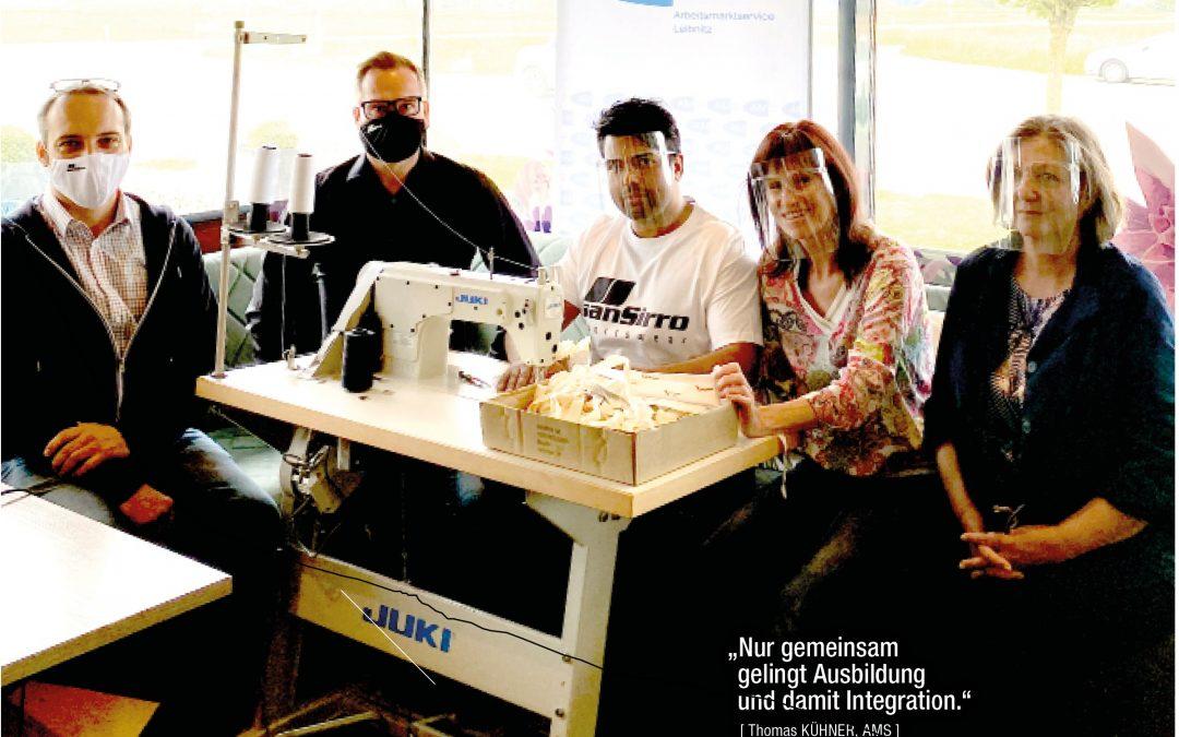 Bekleidungsfertiger bei der Fa. sanSirro GmbH